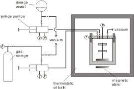 Schematic diagram of the high pressure static VLE apparatus